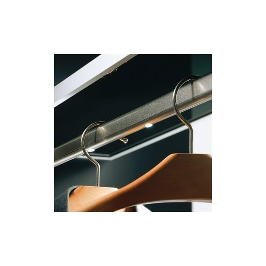 Tub cromat oval pentru haine 30x15 mm, lungime 2 m