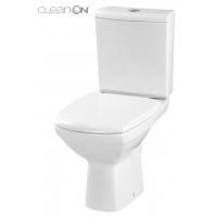 Vas WC compact alimentare verticala Carina Clean On Cersanit (capac cadere lenta inclus)