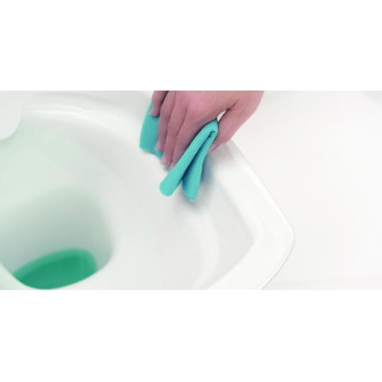 Set vas WC 516 compact alimentare verticala Carina Clean On Cersanit + capac duroplast cadere lenta inclus