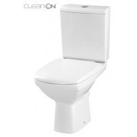 Vas WC 379/517 compact alimentare verticala Carina Clean On Cersanit (capac duroplast inclus)