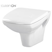 Set vas WC suspendat 550 Carina Clean On Cersanit (capac duroplast inclus)