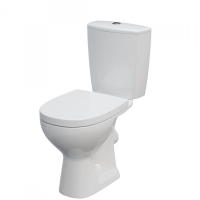 Set vas WC 395 compact alimentare laterala Arteco Cersanit + capac WC duroplast Cersanit