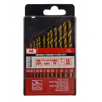 Set 13 burghie metal Titanium 1.5-6.5 mm Evo