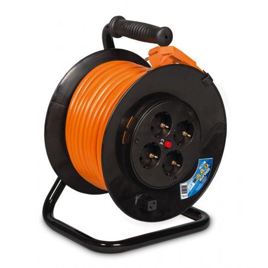 Prelungitor pe tambur 40 m, cablu 3x2.5 mm Inlet