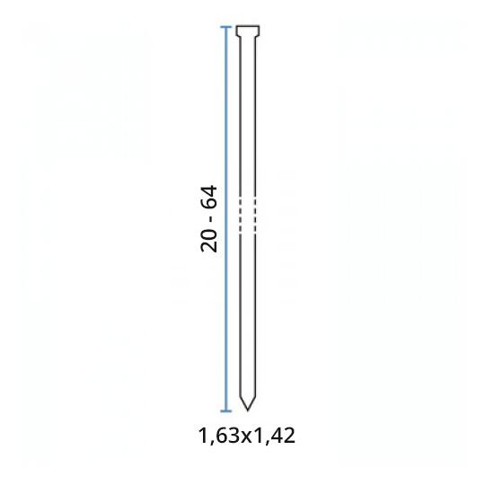 Cuie galvanizate pentru capsator 1.63x45 mm - 2000 buc Bea