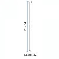 Cuie galvanizate pentru capsator 1.63x55 mm - 2000 buc Bea