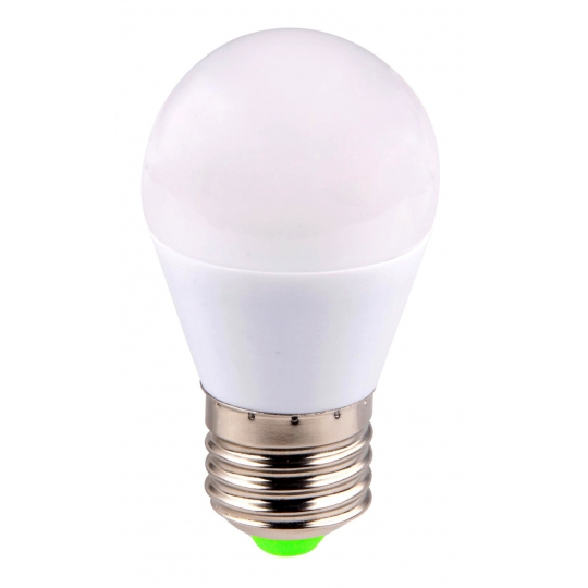 Bec LED sferic EVO15, G45/6W/E27 T&G, lumina calda
