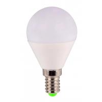 Bec LED sferic EVO15, G45/6W/E14 T&G, lumina calda