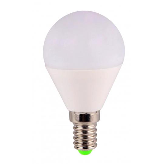 Bec LED sferic EVO15, G45/6W/E14 T&G, lumina rece