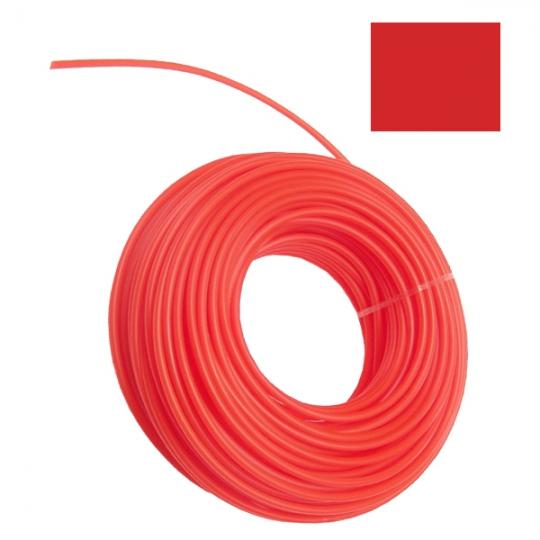 Fir nylon pentru coase/trimmer 2.4 mm , lungime 15 m, profil patrat