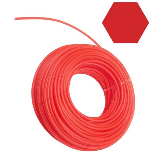 Fir nylon pentru coase/trimmer 2.7 mm , lungime 15 m, profil stea