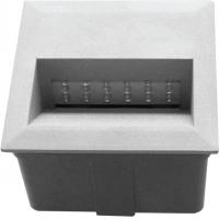 Spot incastrat LED T&G IP65, 18x0.1W, dreptunghiular 139x141 mm, lumina rece