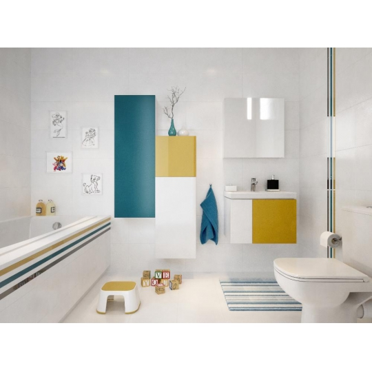 Usa dulap albastru 40x120 cm Cersanit Colour