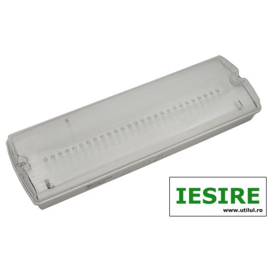 Lampa EXIT cu LED IP65, 27x0.1W Total Green, indicator iesire