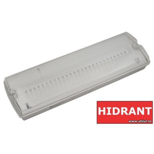 Lampa EXIT cu LED IP65, 27x0.1W Total Green, indicator hidrant