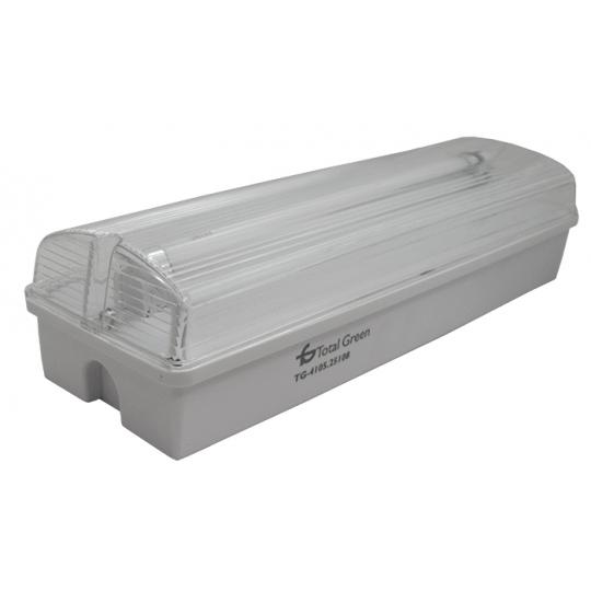 Lampa EXIT cu acumulator IP65, 1x8W Total Green, indicator anti panica