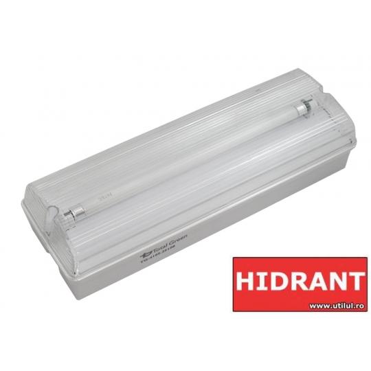 Lampa EXIT cu acumulator IP65, 1x8W Total Green, indicator hidrant