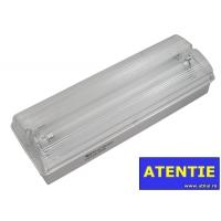 Lampa EXIT cu acumulator IP65, 2x8W Total Green, indicator anti panica