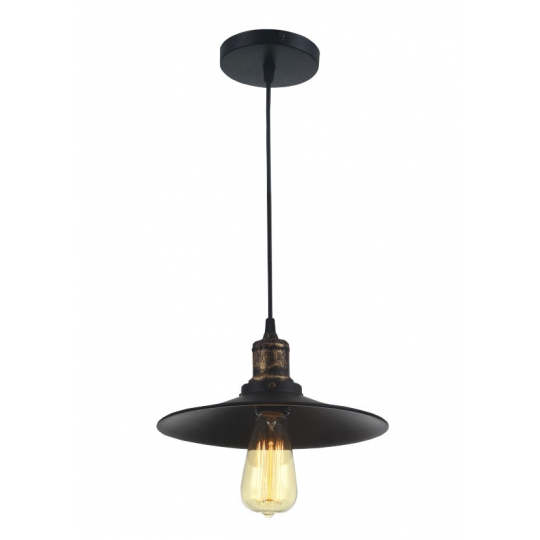 Pendul Vintage Edison Edition S008, E27, 1 x 60W, Bronz + Negru Erste