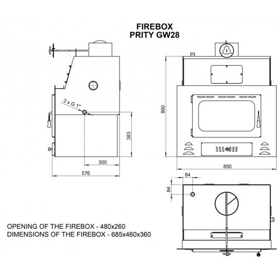 Termo focar Prity GW28 33kW