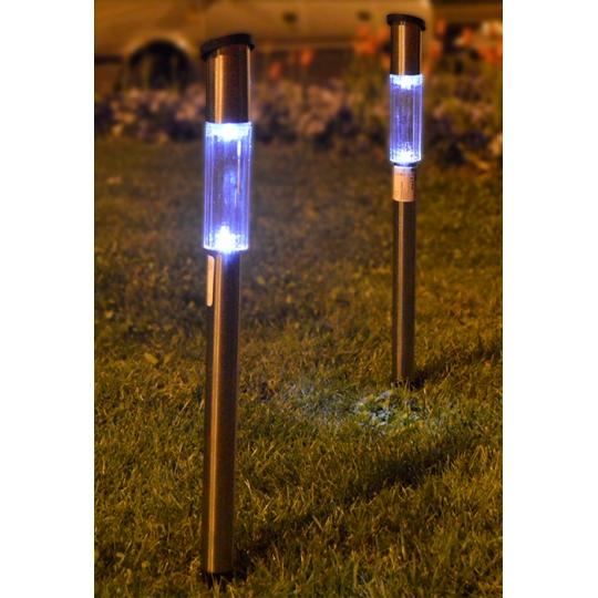 Lampa gradina solara, inox, LED ALB, IP44, H60 Erste