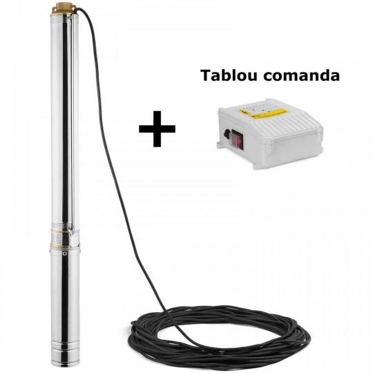 Pompa submersibila put 1100W Nowe 100QJD214-1.1, 94 m, 9.2 bar, tablou comanda