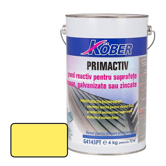 Grund tabla zincata galben Primactiv 2.5 l Kober
