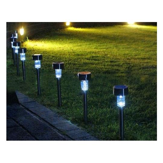 Lampa gradina solara, negru, LED ALB, IP44, H36 Erste