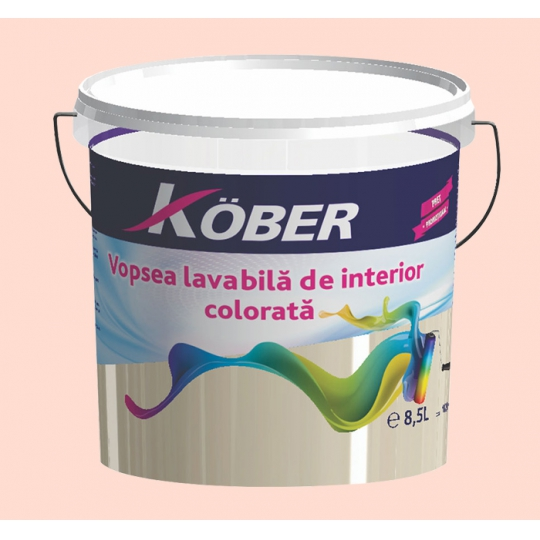 Vopsea lavabila gata colorata Piersica 8.5 l Kober
