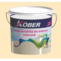 Vopsea lavabila gata colorata Galben Oriental 8.5 l Kober