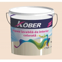 Vopsea lavabila gata colorata Cafeniu 8.5 l Kober