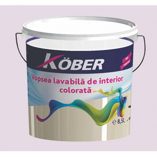 Vopsea lavabila gata colorata Lavanda 8.5 l Kober
