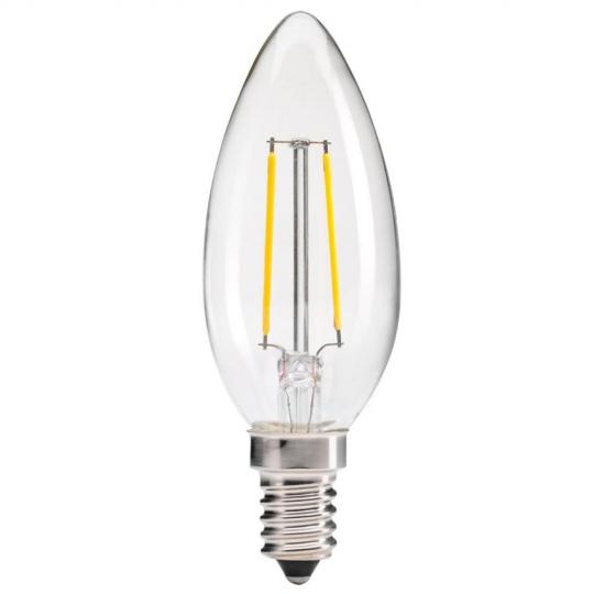 Bec decorativ LED Vintage Edison Edition 2W, E14, lumina rece Total Green