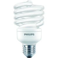 Bec economic Philips Economy Twister, forma spirala, E27, 23W, 6000 ore, lumina calda