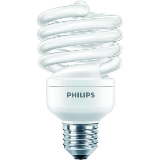 Bec economic Philips Economy Twister, forma spirala, E27, 23W, 6000 ore, lumina calda