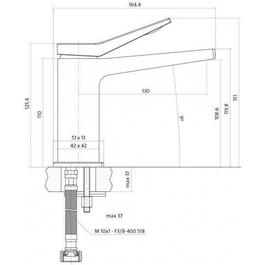 Baterie lavoar Cromo Cersanit