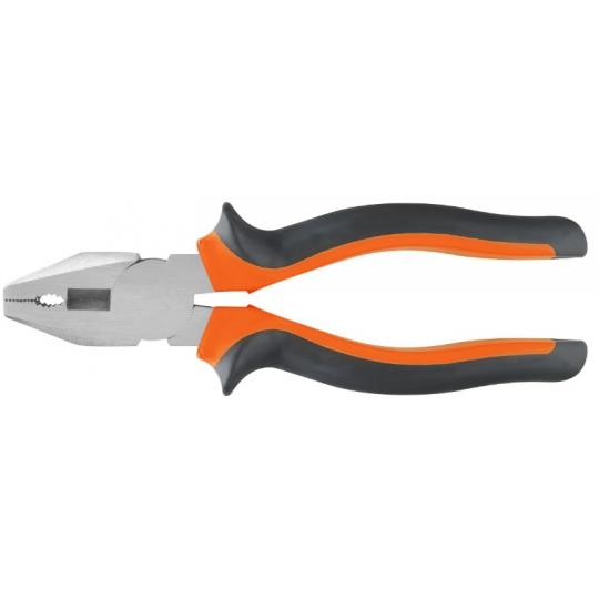 Patent super-finisat orange-negru, lungime 200 mm