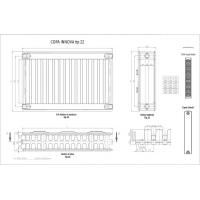 Calorifer otel panel 600x1600x22 Innova Copa