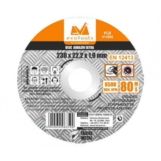 Disc Abraziv Extra A46 125 x 1.6 x 22.2 mm, Evo Standard