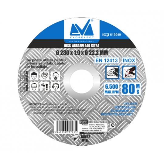 Disc Abraziv Extra A46 125 x 1.6 x 22.2, Evo Industrial