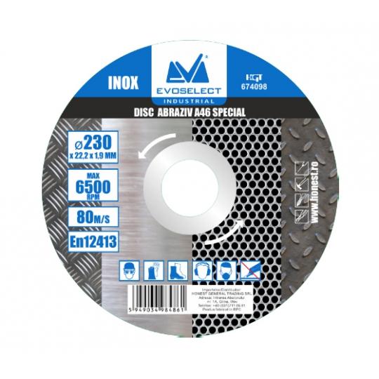 Disc Abraziv Special A46 180 x 1.6 x 22.2, Evo Industrial