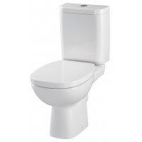 Set vas WC compact 319, alimentare inferioara Facile Cersanit + capac cadere lenta Facile