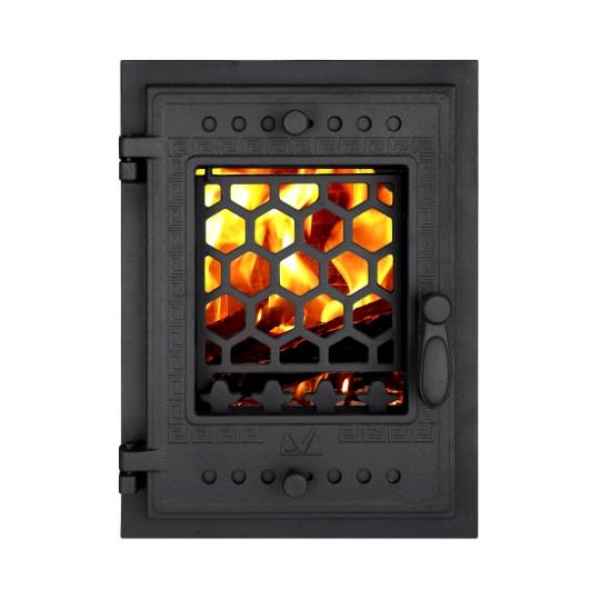 Usa semineu cu geam Fagure 480x360 mm (geam 674917 )