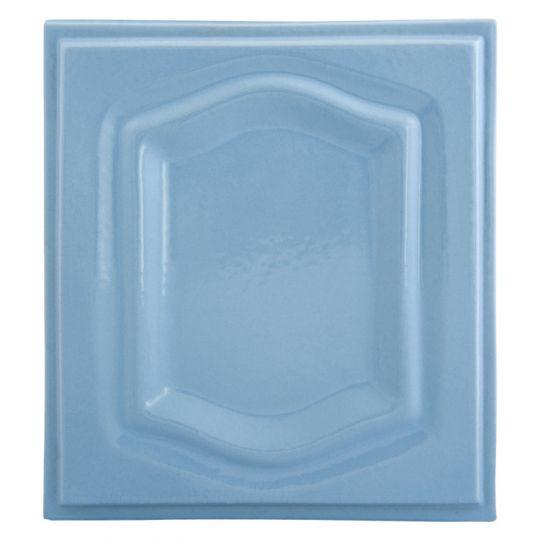 Placa soba teracota Bizantin Albastru