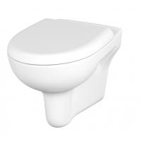 Vas WC suspendat Nature Cersanit + capac WC Smooth duroplast, cadere lenta Cersanit
