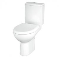 Vas WC compact evacuare laterala Nature, capac duroplast antibacterian cadere lenta, alimentare rezervor stanga/dreapta Cersanit