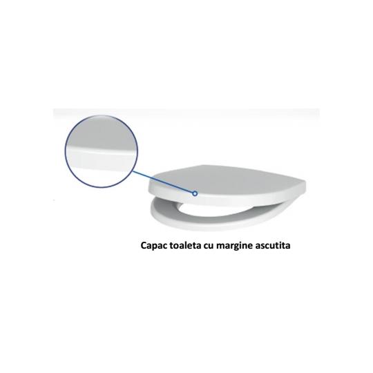 Capac WC Nature Sharp (margine ascutita), duroplast, antibacterian