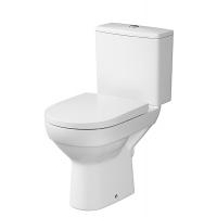 Set vas WC 540 compact evacuare laterala City, capac cadere lenta, alimentare rezervor lateral Cersanit