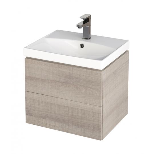 Dulap de baie stejar Cersanit City pentru lavoar CITY / COLOUR / COMO / NATURE / ONTARIO 50 cm Cersanit