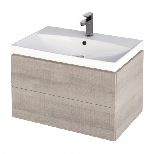 Dulap de baie stejar Cersanit City pentru lavoar City 70 Cersanit